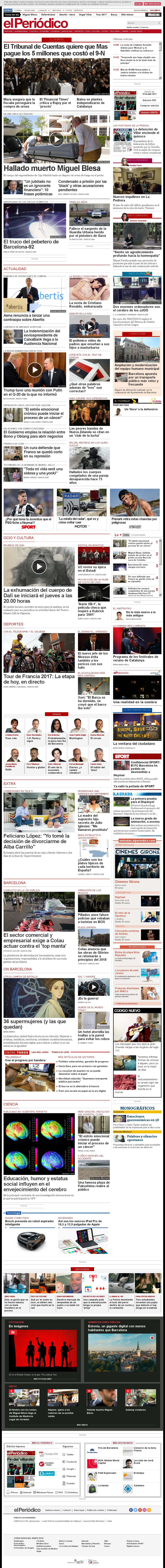 El Periodico at Wednesday July 19, 2017, 1:17 p.m. UTC