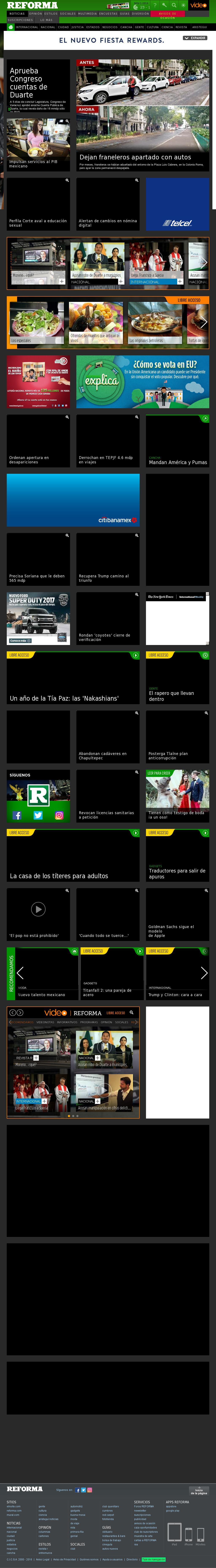 Reforma.com at Tuesday Nov. 1, 2016, 12:19 p.m. UTC
