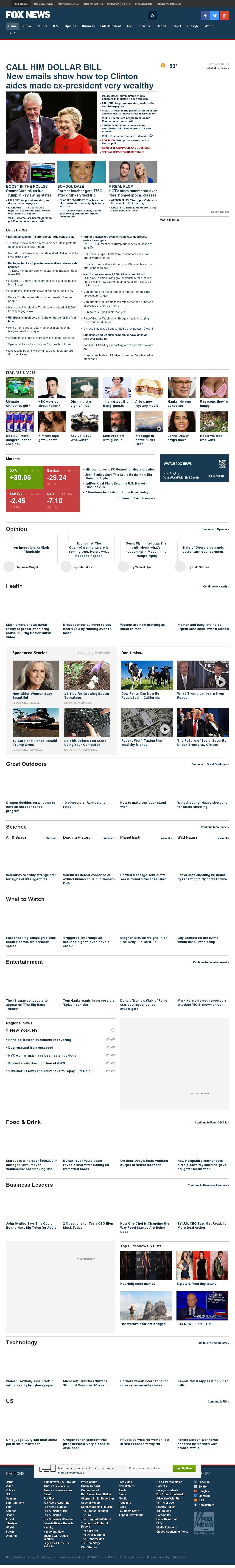 Fox News at Wednesday Oct. 26, 2016, 8:05 p.m. UTC