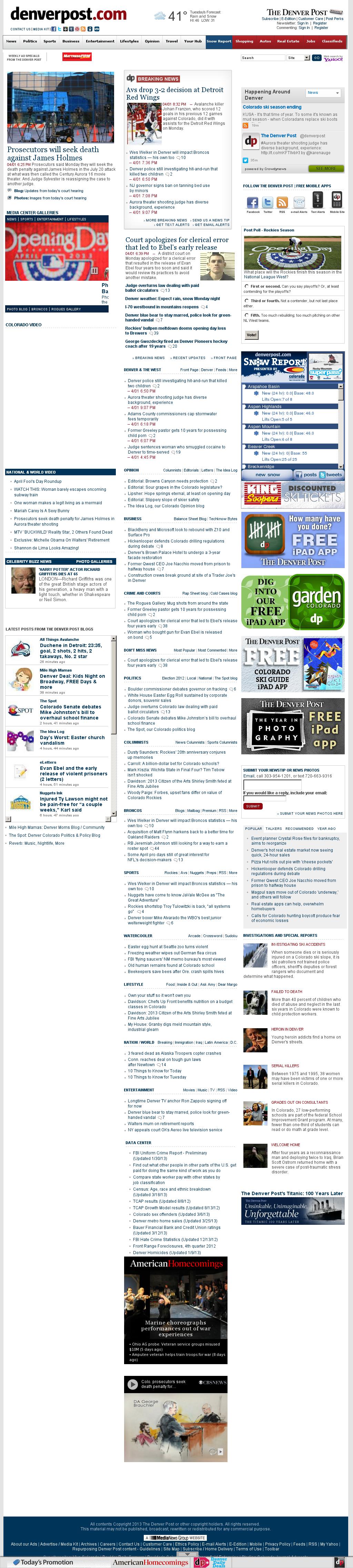 Denver Post at Tuesday April 2, 2013, 4:05 a.m. UTC