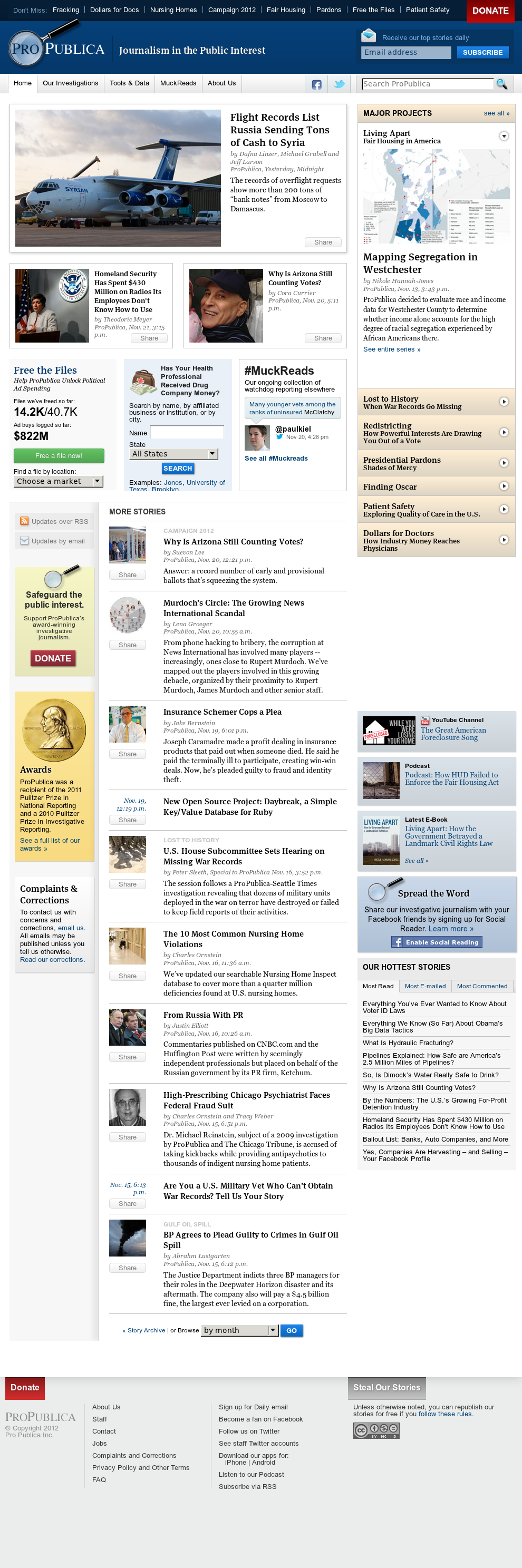 ProPublica at Monday Nov. 26, 2012, 6:22 a.m. UTC