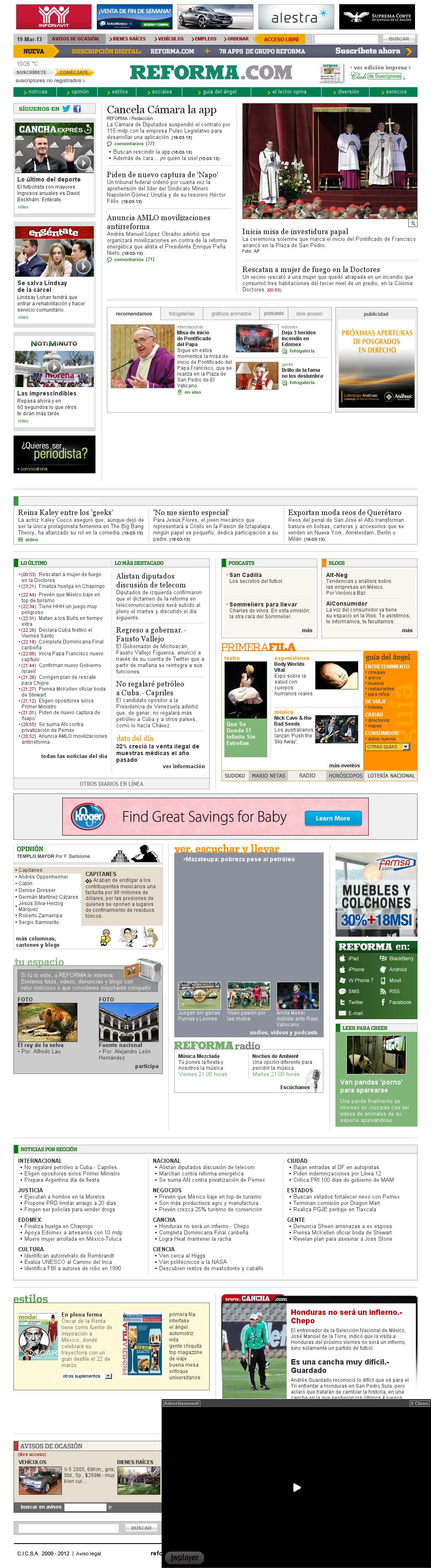 Reforma.com at Tuesday March 19, 2013, 10:22 a.m. UTC