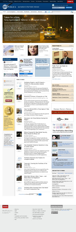 ProPublica at Wednesday May 1, 2013, 12:19 p.m. UTC