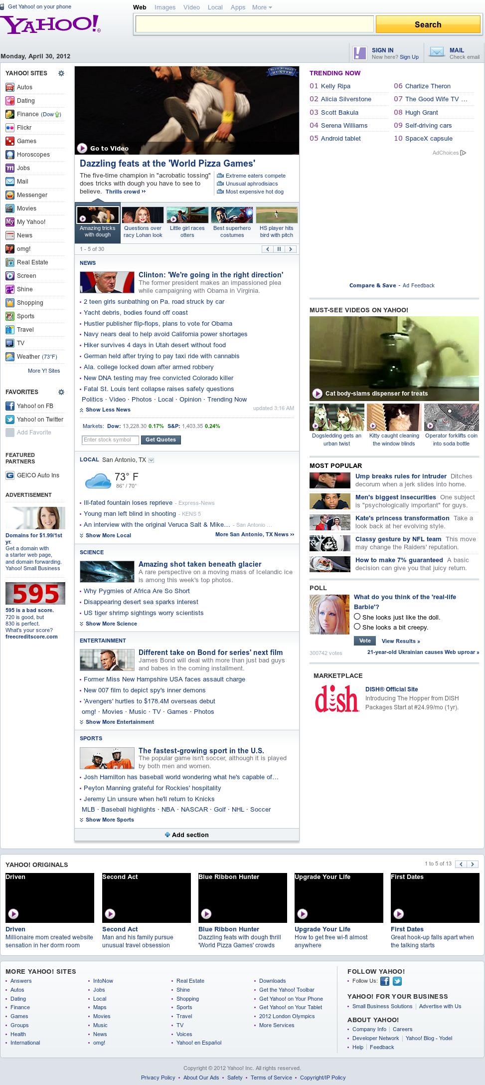Yahoo! News at Monday April 30, 2012, 7:16 a.m. UTC