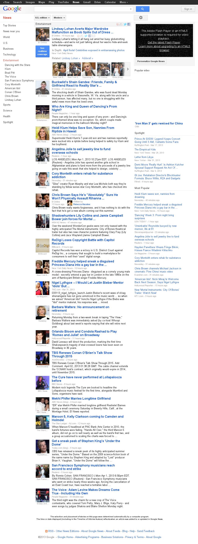 Google News: Entertainment at Tuesday April 2, 2013, 4:08 a.m. UTC