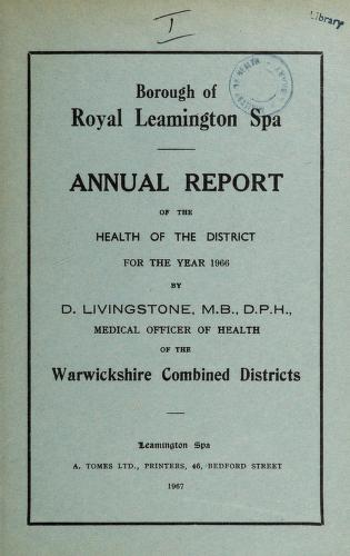 Cover of: [Report 1966] | Leamington (England). Borough Council